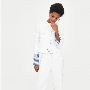 Zara Authentic Denim White Jacket NWT